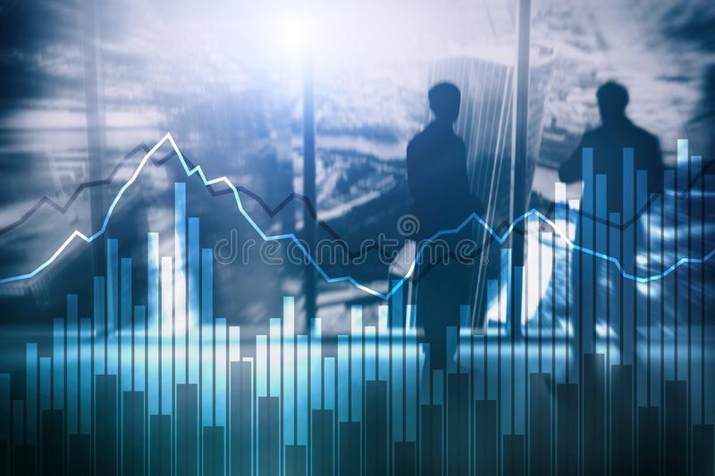 Dwoistego ujawnienia Pieniężni wykresy i diagramy Biznes, ekonomie i inwestorski pojęcie, ilustracji