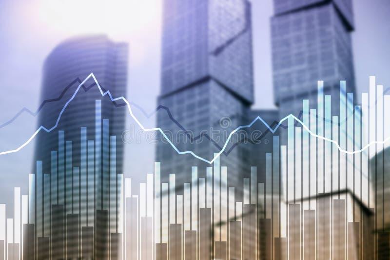 Dwoistego ujawnienia Pieniężni wykresy i diagramy Biznes, ekonomie i inwestorski pojęcie, obrazy stock