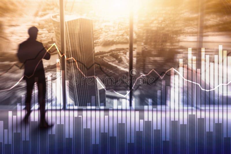 Dwoistego ujawnienia Pieniężni wykresy i diagramy Biznes, ekonomie i inwestorski pojęcie, zdjęcia stock