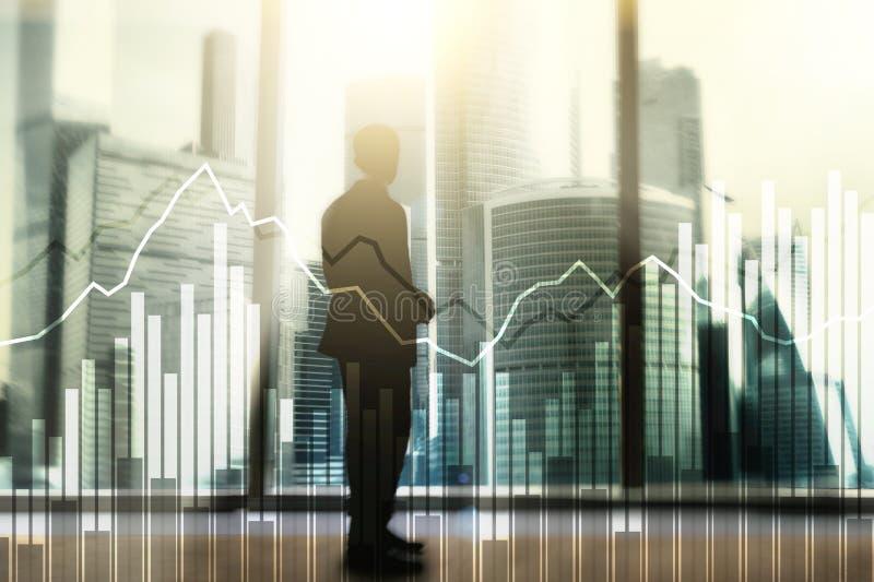 Dwoistego ujawnienia Pieni??ni wykresy i diagramy Biznes, ekonomie i inwestorski poj?cie, zdjęcia royalty free