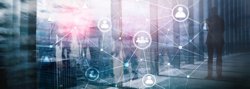 Dwoistego ujawnienia sieci structureà ¾ à ¾ HR działy zasobów ludzkich zarządzanie i rekrutaci pojęcie ludzie - royalty ilustracja