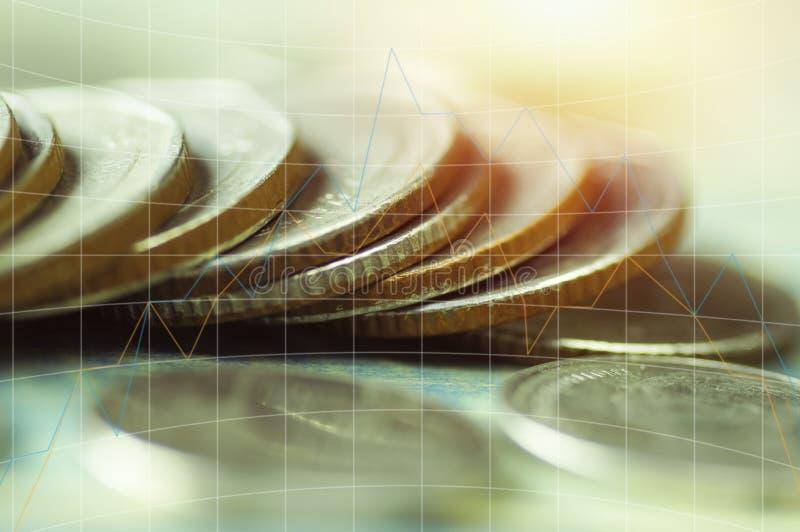 Dwoistego ujawnienia stos, pojęcie w przyroscie, save, finanse, konto, kapitałowa bankowość, inwestycja, i obraz royalty free