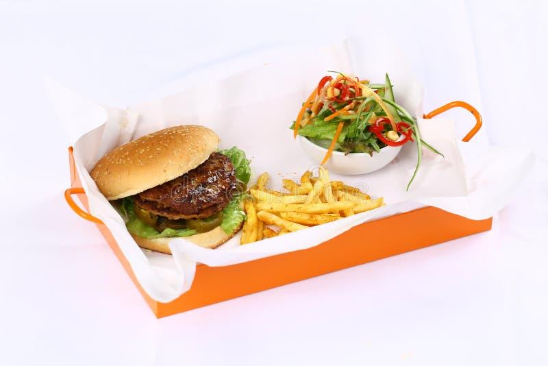 Dwoisty hamburger zdjęcia stock