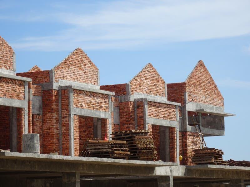 Dwoisty opowie?? luksusu tarasu dom w budowie w Malezja obrazy royalty free