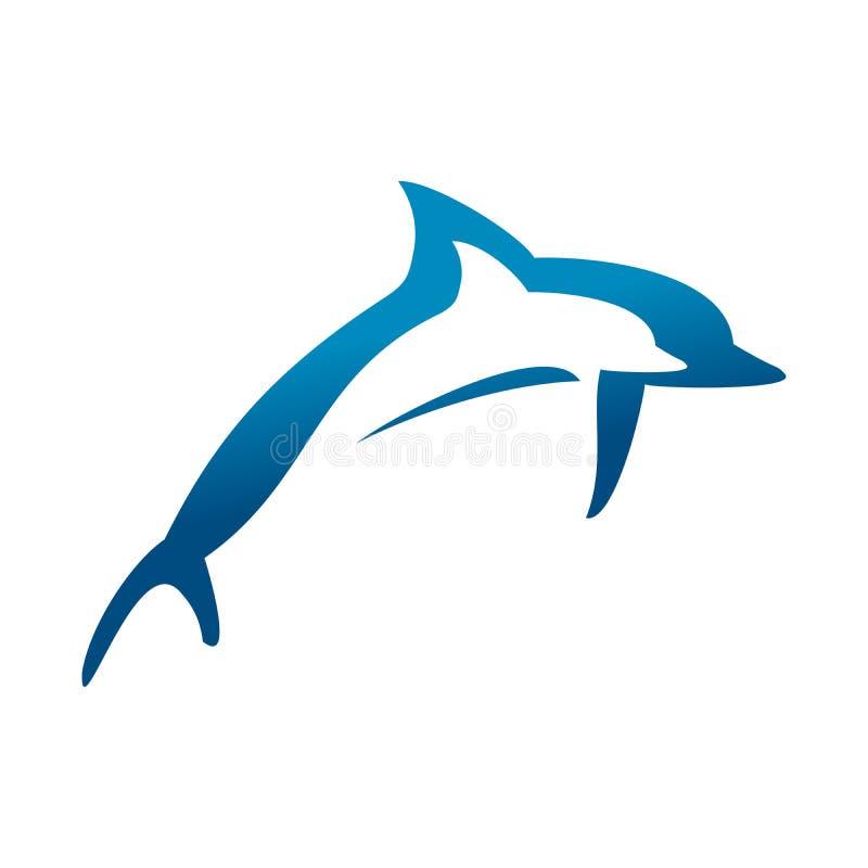 Dwoisty Skokowy delfinu symbolu projekt royalty ilustracja