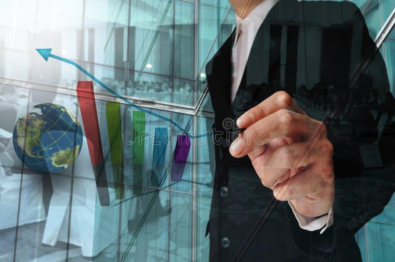Dwoisty ujawnienie biznesmen, Biznesowy spotkanie i konwersatorium fotografia stock