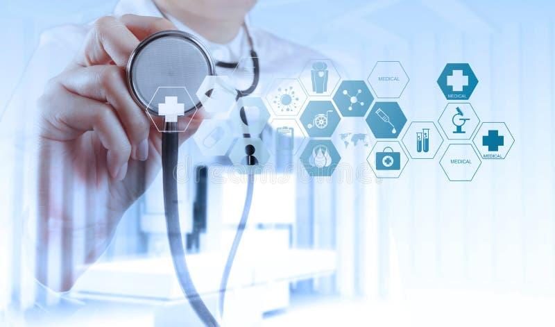 Dwoisty ujawnienie mądrze lekarza medycyny działanie zdjęcie royalty free