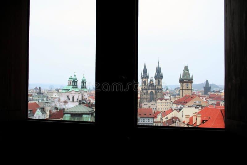 Dwoisty widok od okno fotografia stock