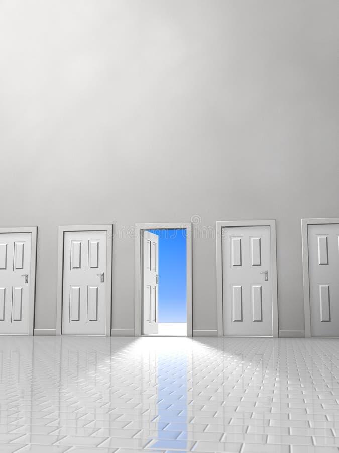 dwoje drzwi ilustracja wektor