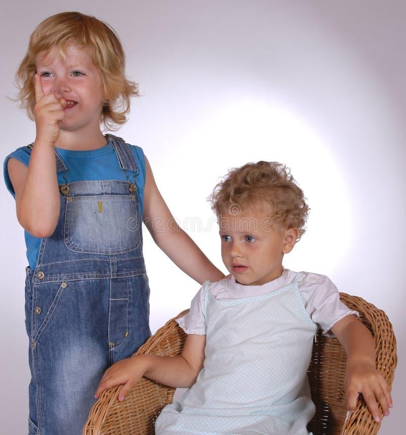 dwoje dzieci fotografia stock