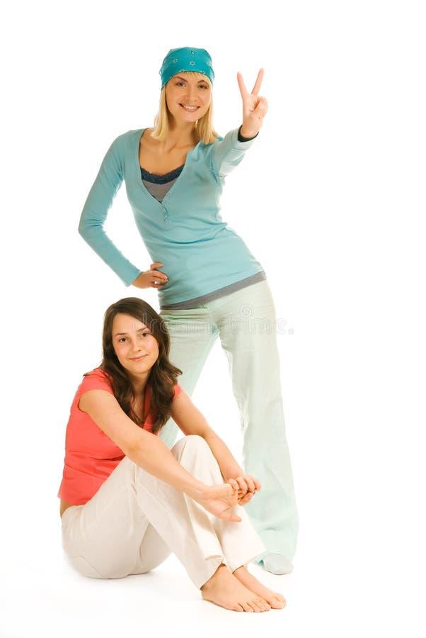 dwoje nastolatków dziewczyny fotografia royalty free
