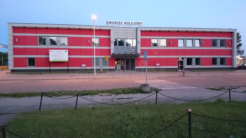 Dworca Kolejowy dziaÅ 'dowo/Dzialdowo dworzec fotografia royalty free