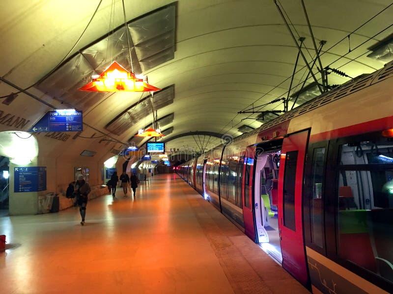 Dworca quay Paryż obraz stock