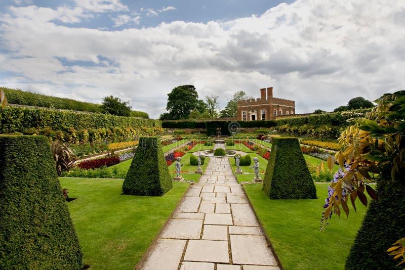 dworscy formalni ogródy Hampton zdjęcie stock