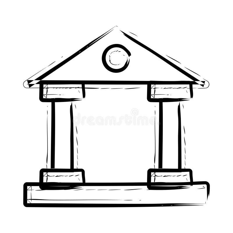 Dworska ikona ilustracja wektor
