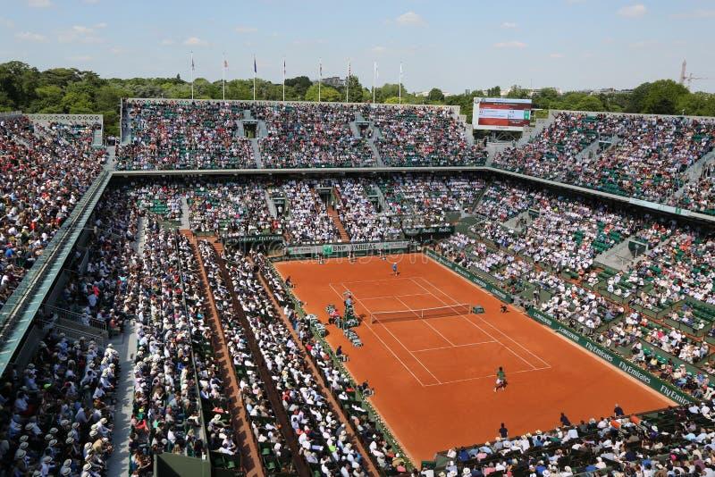 Dworski Philippe Chatrier przy Le Stade Roland Garros podczas Roland Garros 2015 dopasowania zdjęcia stock