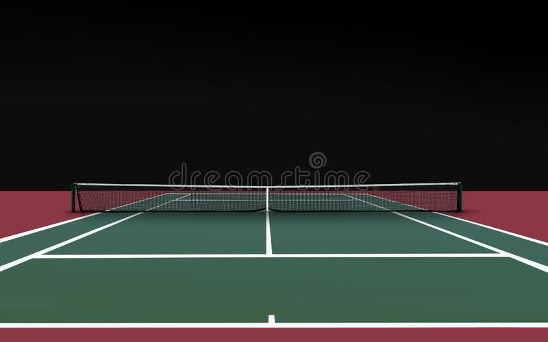 dworski tenis ilustracja wektor