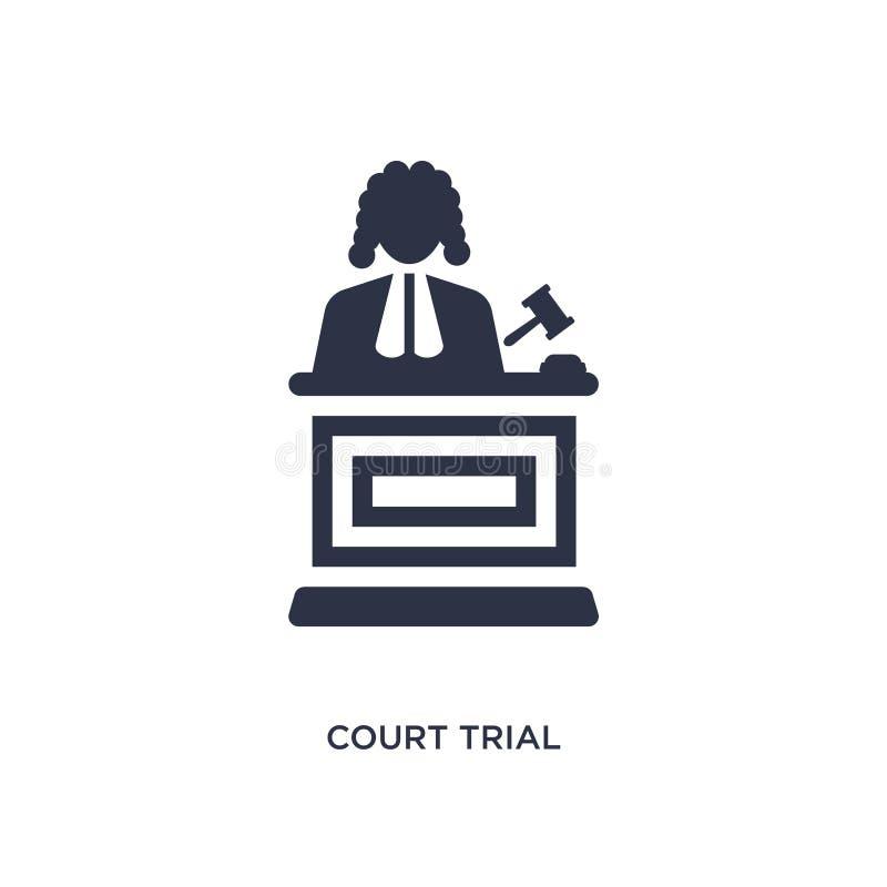 dworskiej próby ikona na białym tle Prosta element ilustracja od prawa i sprawiedliwości pojęcia ilustracji