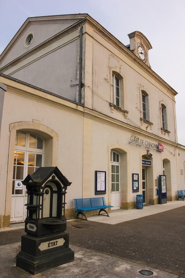 Dworzec Chinon Francja obraz royalty free