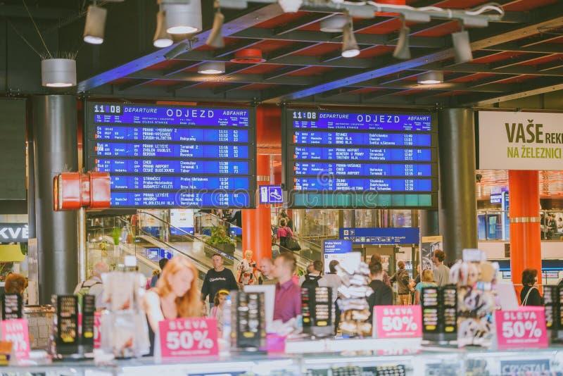 Dworzec, Praga, republika czech zdjęcie royalty free