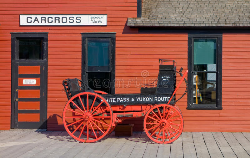 Dworzec przy carcross, Alaska obraz stock