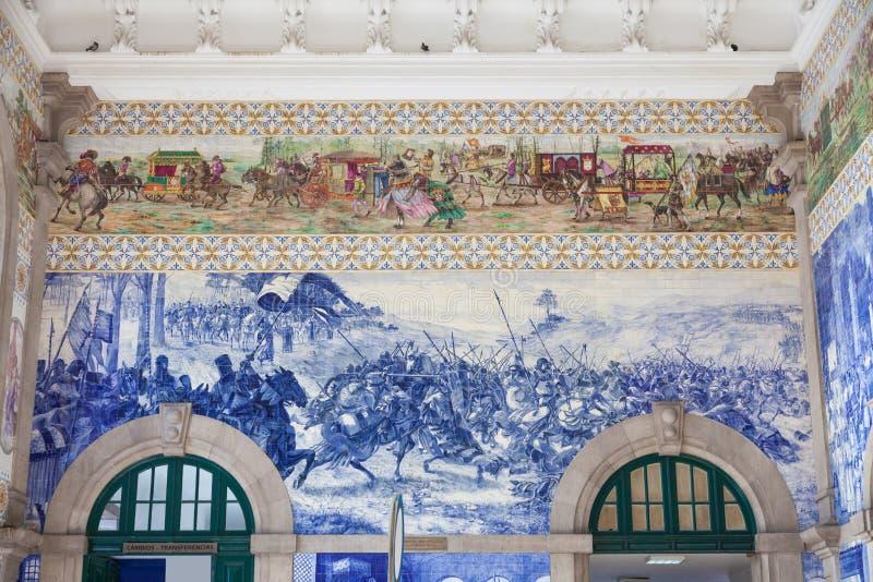 Dworzec sala Porto, Portugalia. fotografia royalty free