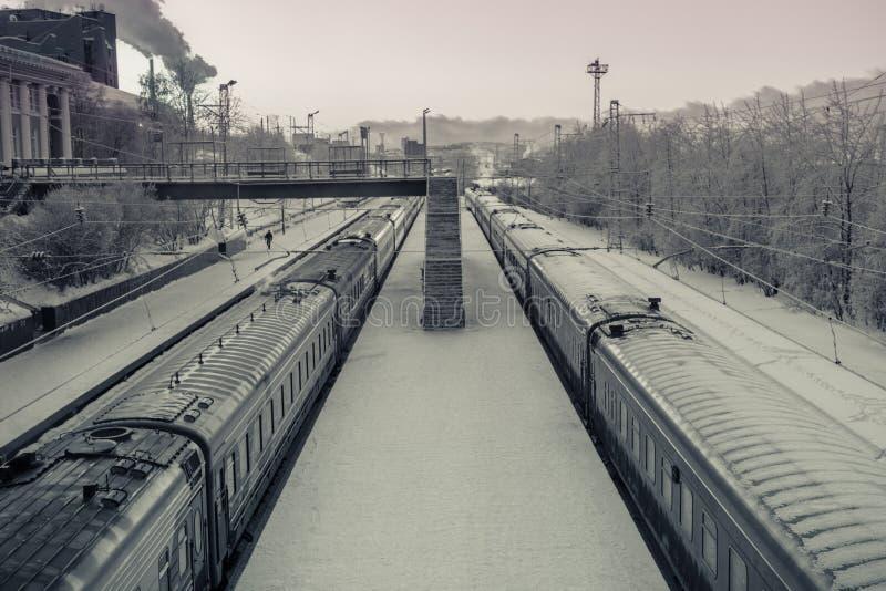 Dworzec w Murmansk, Kola półwysep, Rosja zdjęcie stock
