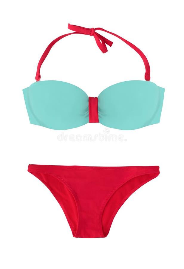Dwuczęściowy swimsuit lub bikini odizolowywający obraz stock