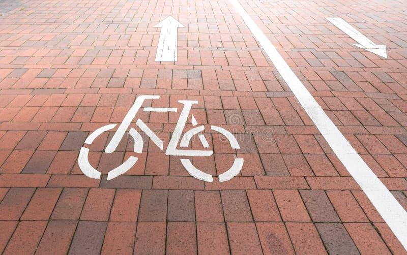 Dwudrogowy roweru pas ruchu fotografia royalty free