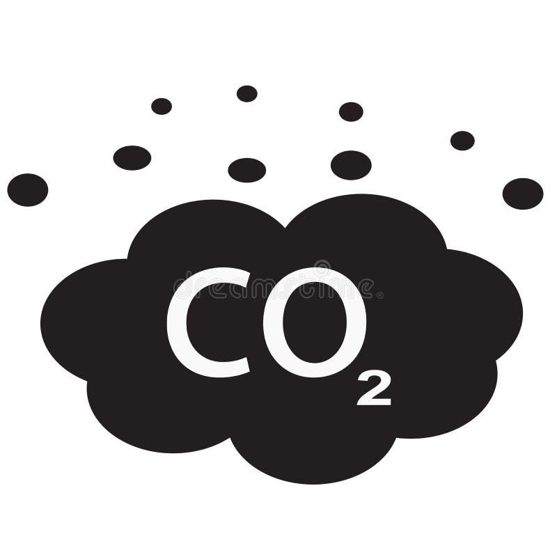 DWUTLENEK WĘGLA ikona na białym tle Mieszkanie styl dwutlenek węgla ikona dla twój strona internetowa projekta, logo, app, UI Dwu ilustracja wektor