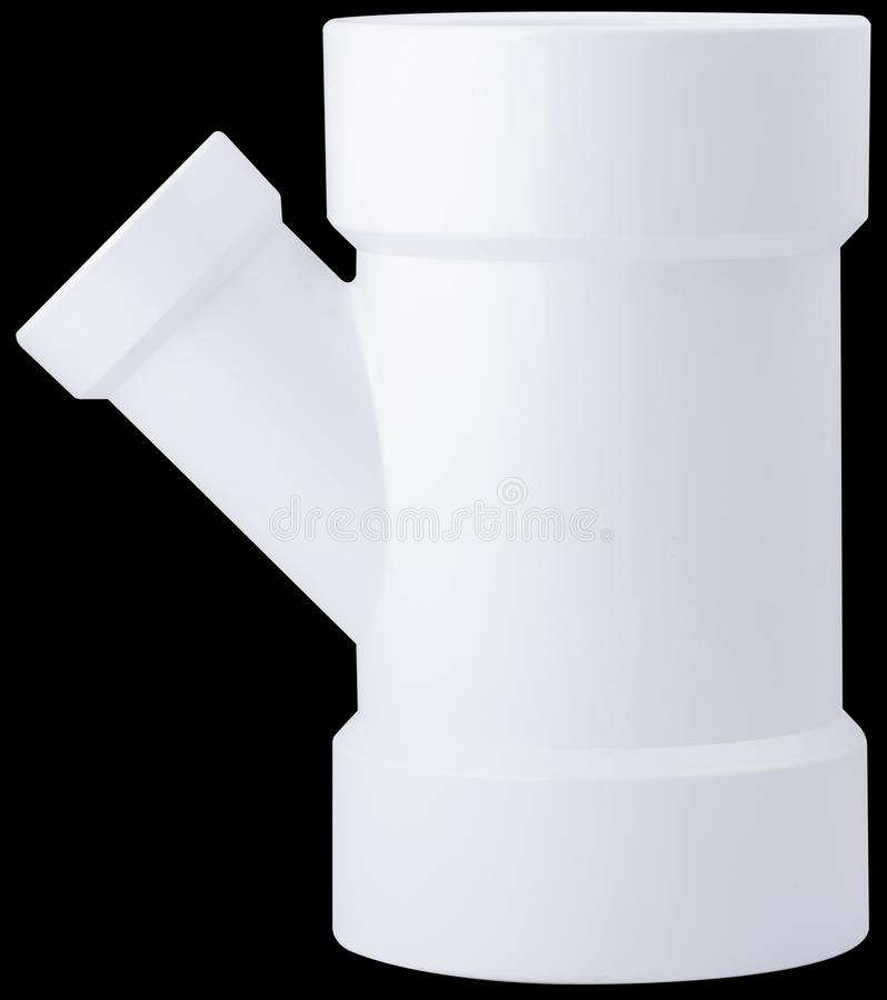 DWV - PVC fittings for waterways stock images