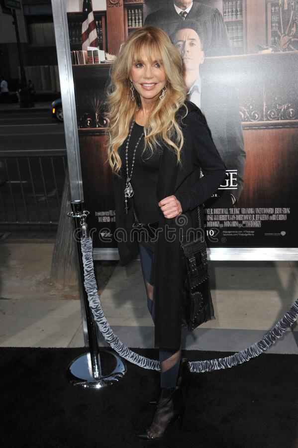 Dyan Cannon. LOS ANGELES, CA - OCTOBER 1, 2014: Dyan Cannon at the Los Angeles premiere of \'The Judge\' at the Samuel Goldwyn Theatre, Beverly Hills royalty free stock photos