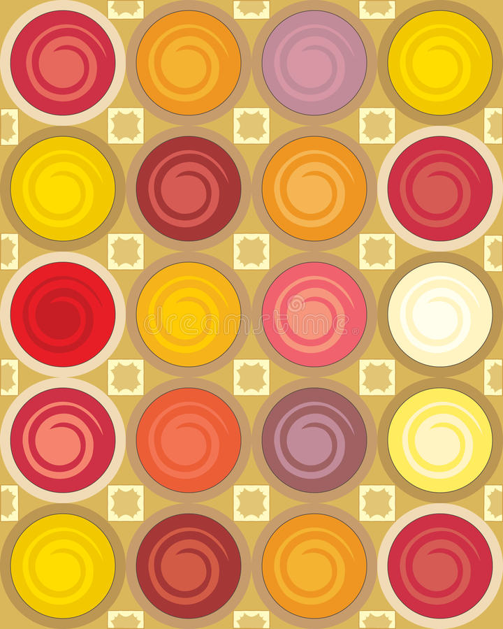 Download Dye pots stock vector. Image of concentric, colors, shapes - 15086843