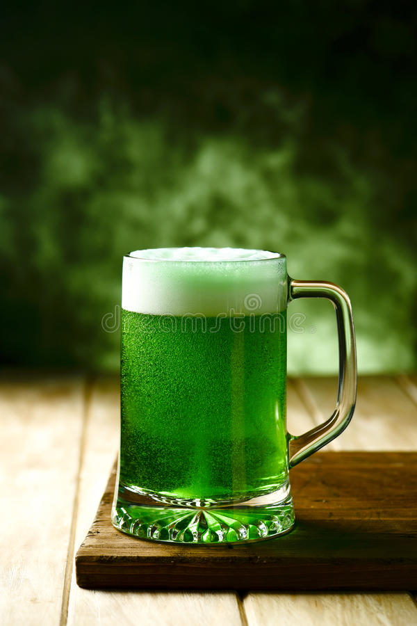 Dyed green beer royalty free stock images