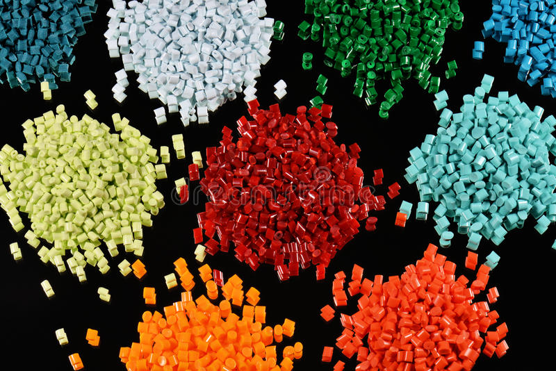 Dyed polymer resin stock photography