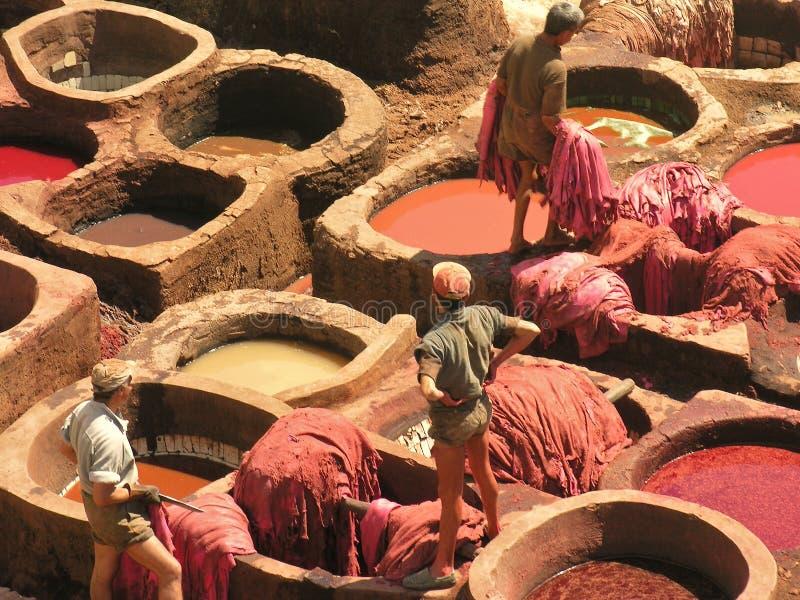 Dyeing Work stock photo