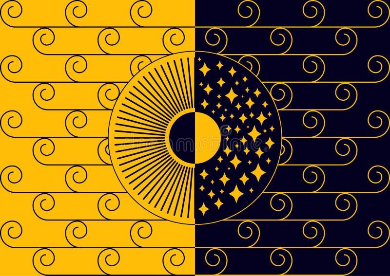 Dygnet runt Svart-guling royaltyfri bild
