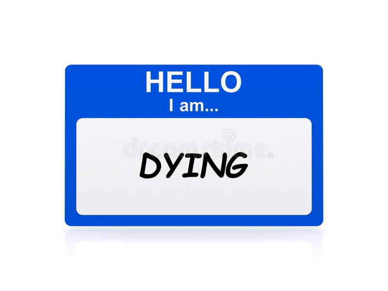 Dying card stock illustration