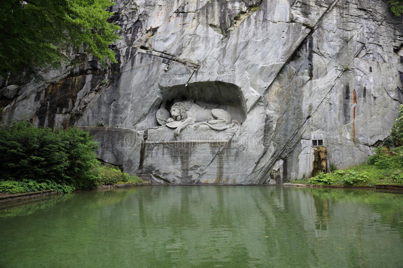 Dying Lion. Sculpture in Lucerne, Switzerland royalty free stock images