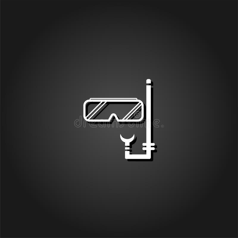 Dykaresymbolslägenhet stock illustrationer