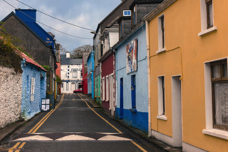 Dykegate street. Dingle. Ireland. Picturesque and colourful Dykegate street. Dingle. county Kerry. Ireland royalty free stock photo