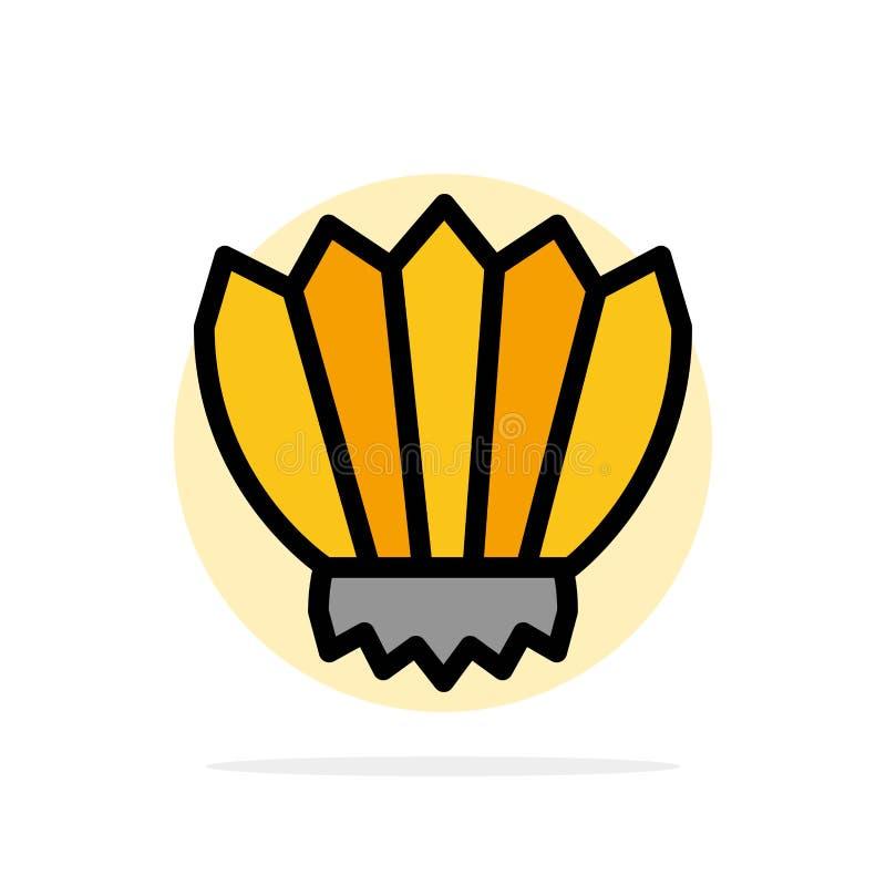 Dykning fena, flipper, hav, symbol för färg för utomhus- abstrakt cirkelbakgrund plan vektor illustrationer