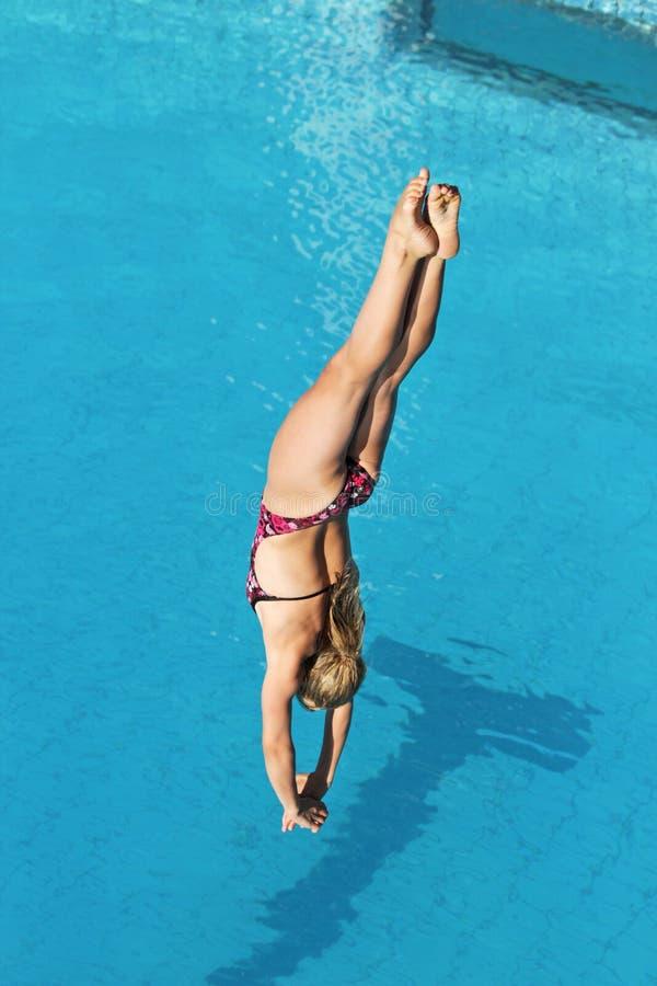 Dykningkonkurrens royaltyfri foto