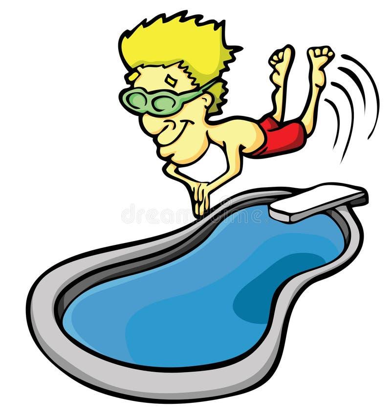 dykningman stock illustrationer
