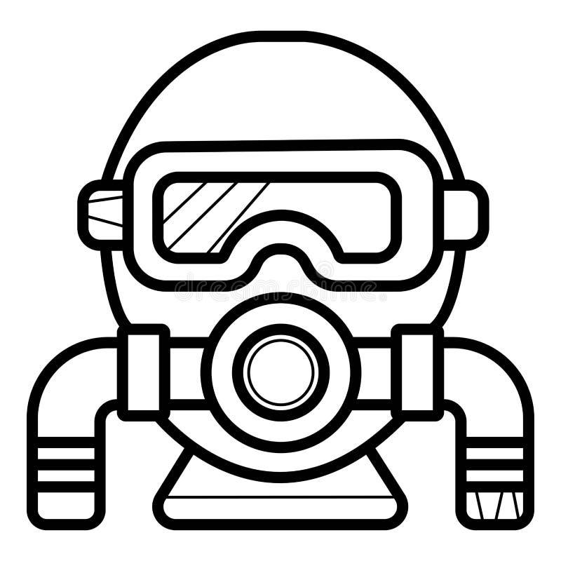 Dykningsymbol stock illustrationer