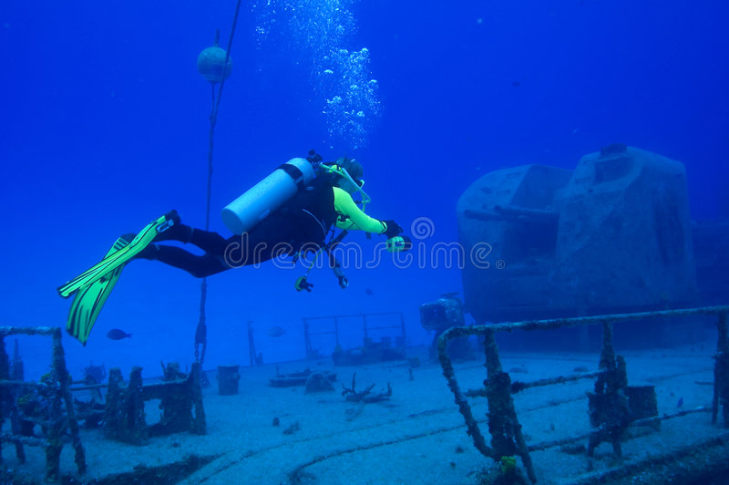 dykningtibbetts royaltyfria bilder