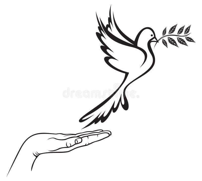 Dykt av fred royaltyfri illustrationer