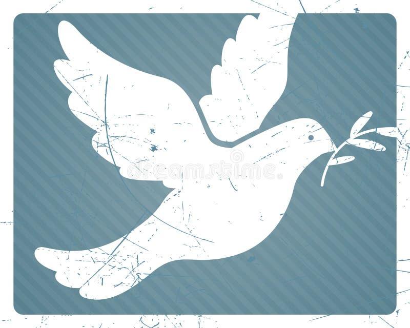 Dykt av fred stock illustrationer