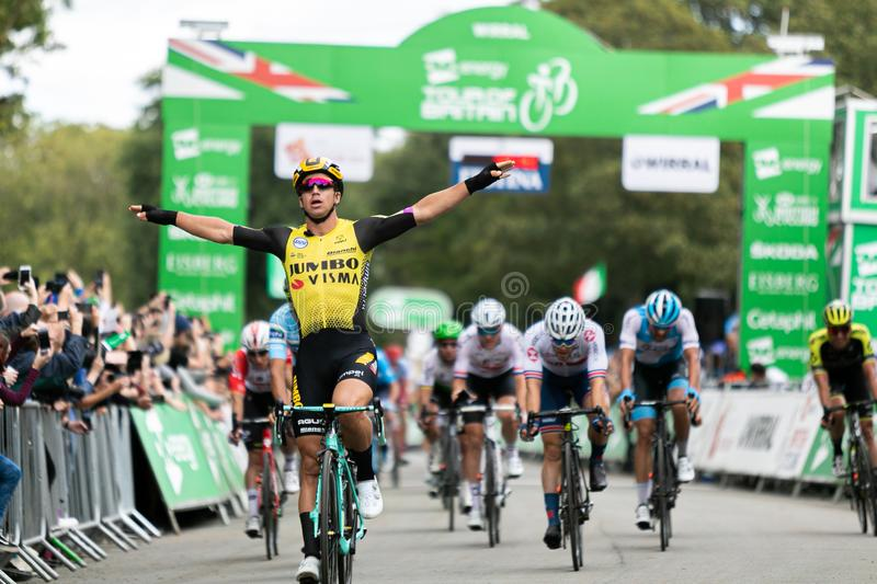 Dylan Dylan Groenewegen wins stage 5 of the Tour of Britain 2019 stock photo