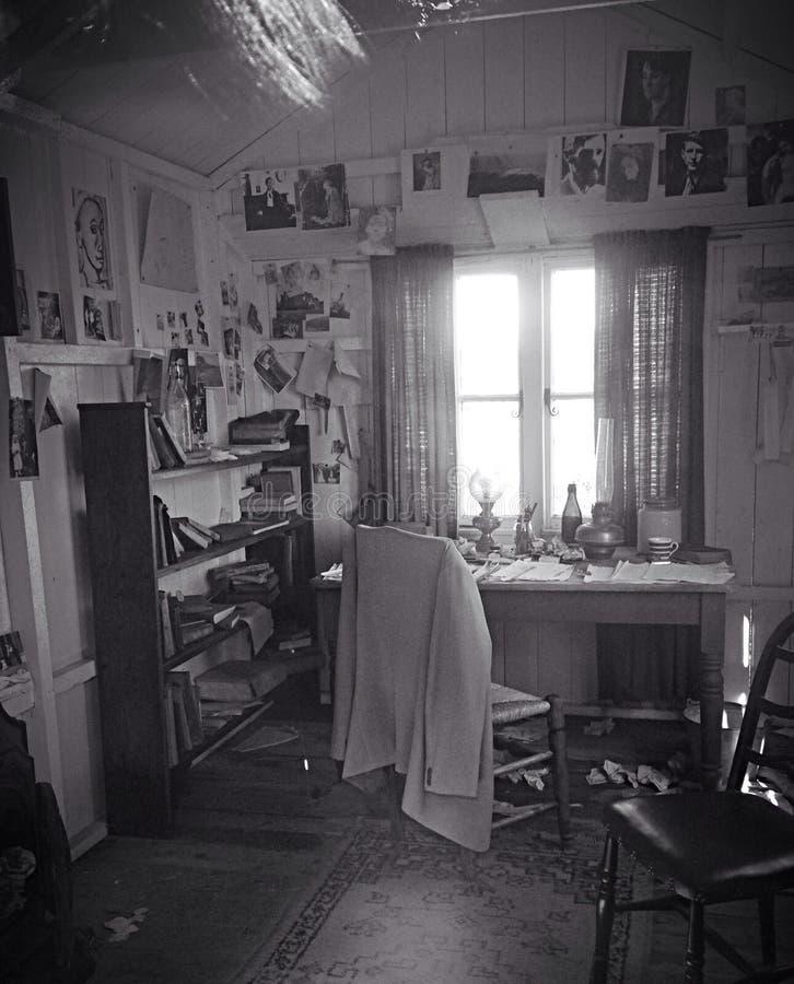Dylan Thomas που γράφει το δωμάτιο στοκ φωτογραφία με δικαίωμα ελεύθερης χρήσης
